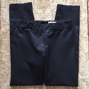 Nordstrom Signature black ankle stretch knit pants